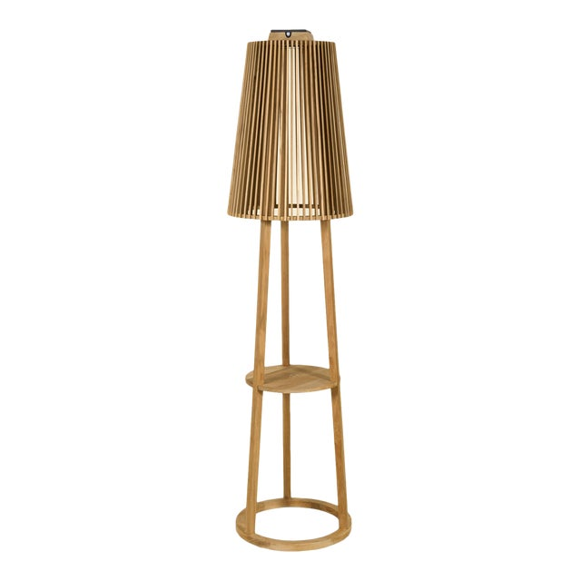 Palma Outdoor Lamppost in Teak For Sale