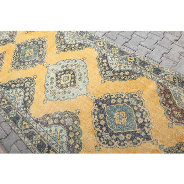 1960's Vintage Turkish Hand-Knotted Wide Long Runner-4′7″ × 12′10″ For Sale - Image 4 of 11