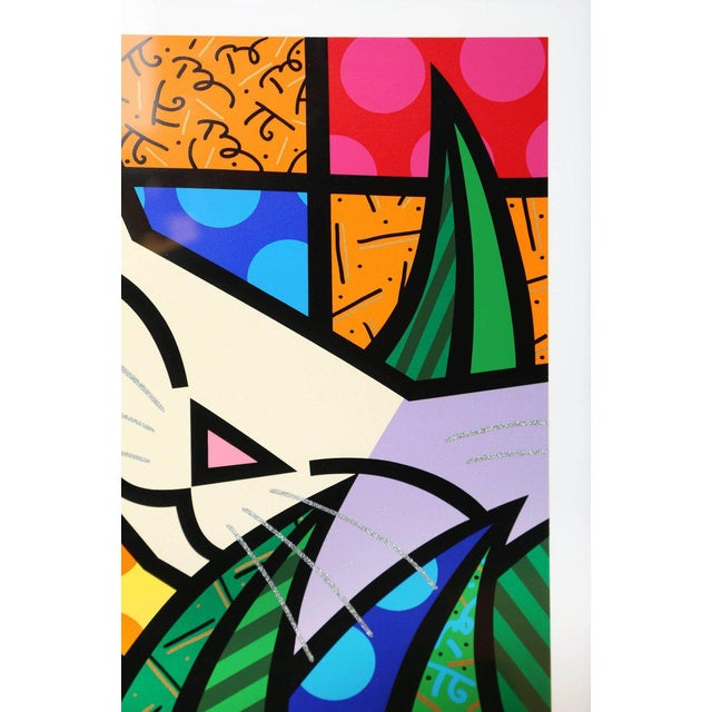Modern Behind the Bushes, Limited Edition Serigraph by Romero Britto For Sale - Image 3 of 7