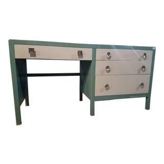 Mid-Century Modern Simmons Steel Writing Desk For Sale