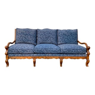 French Country Ladder Back Sofa For Sale