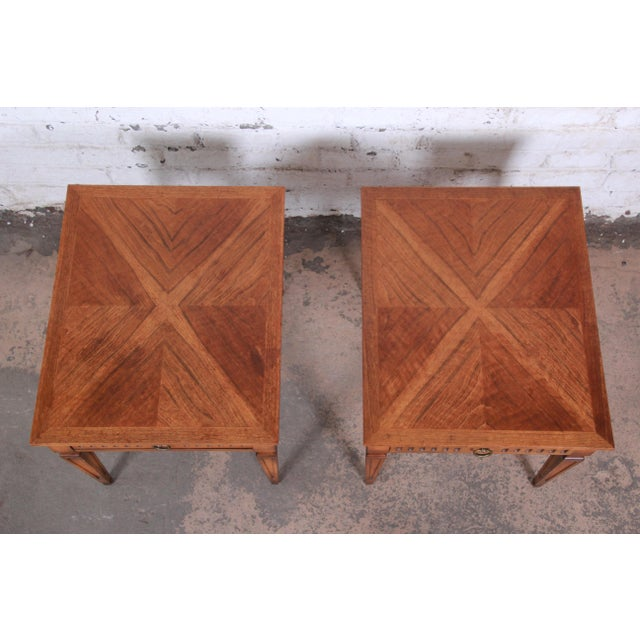 Brown Baker Furniture Milling Road French Regency End Tables, Pair For Sale - Image 8 of 12