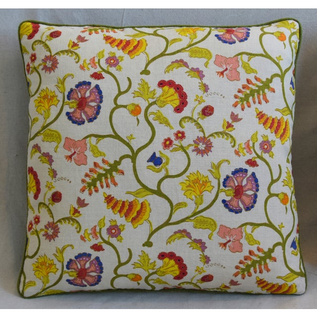 """Adirondack Raoul Floral & Scalamadre Mohair Feather/Down Pillows 21"""" Square - Pair For Sale - Image 3 of 13"""