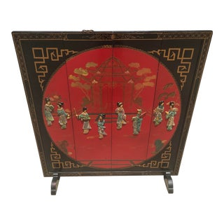 Wooden Chinese Fire Screen For Sale