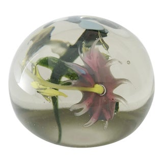 Italian Murano Glass Paperweight For Sale