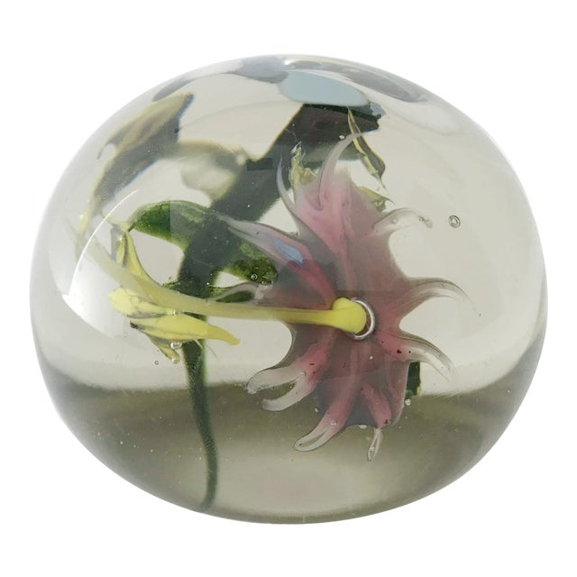 Italian Murano Glass Paperweight For Sale