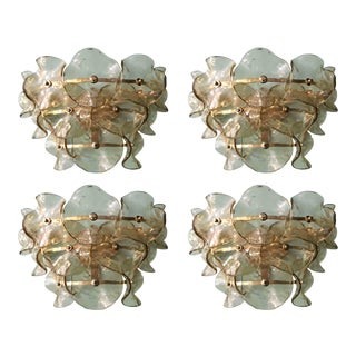 Mid 20th Century Vintage Smoky Murano Sconces by Fabio Ltd - a Pair For Sale