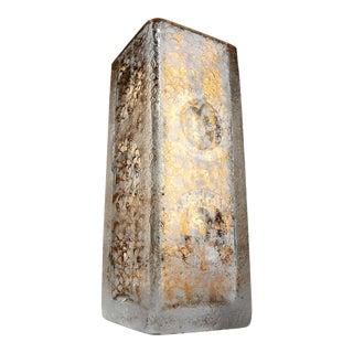Modern Scandinavian Gilt Crystal Vase For Sale