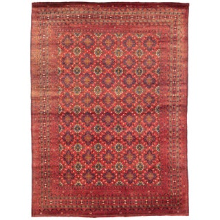 Hand-Knotted Afghan Rug- 8′ × 11′1″ For Sale