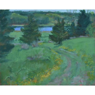 """""""Path to the River"""" Conteporary Plein Air Acrylic Painting by Stephen Remick For Sale"""