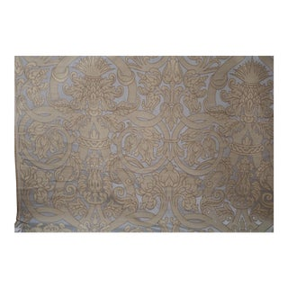 1990s Italian Liturgical Embroidered Fabric For Sale