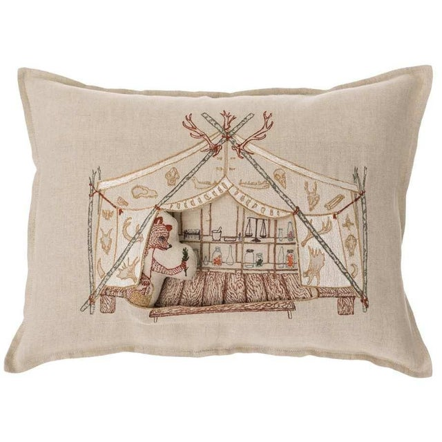 Bear Apothecary Tent Pocket Pillow For Sale - Image 6 of 6