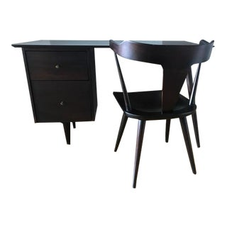 Rare 1950's Paul McCobb Mid-Century Planner Group Desk & Chair