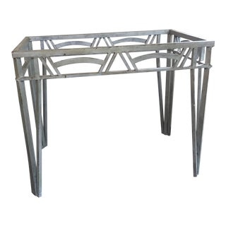 1970s Art Deco Revival Metal Table Base For Sale
