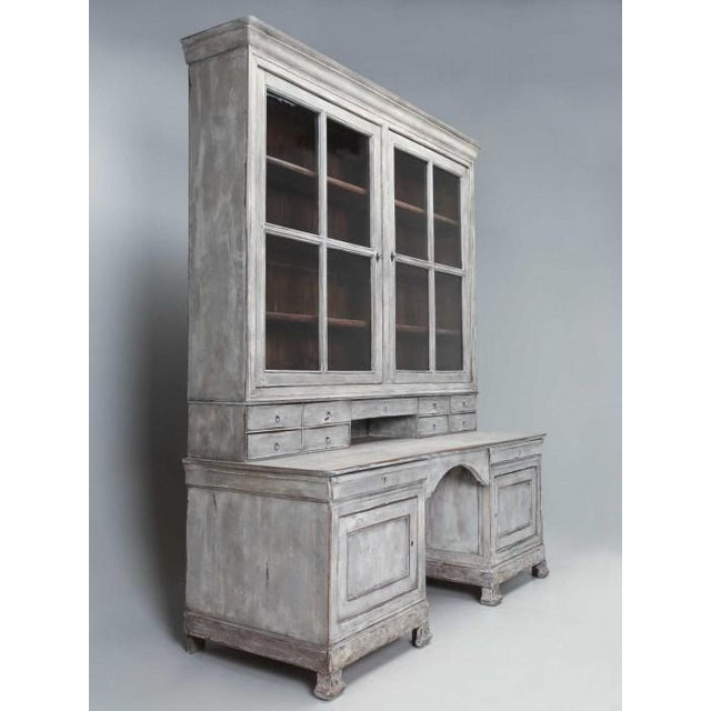 Early 19th Century Antique French Bookcase and Desk For Sale - Image 5 of 13