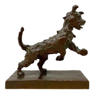Edith Parsons (1878-1956) Terrier Bronze Sculpture C.1930s For Sale