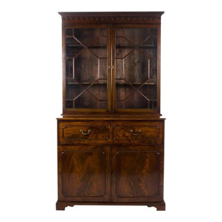 18th Century Antique Chippendale Secretary Bookcase For Sale