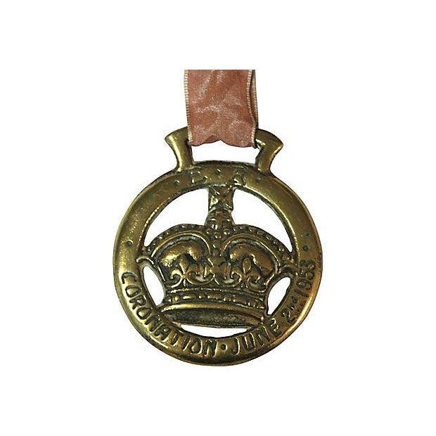 1953 Queen Elizabeth II Coronation Brass Ornament - Image 3 of 3