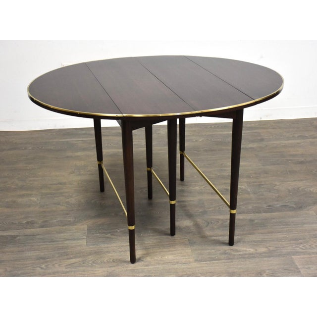 Paul McCobb Mahogany and Brass Dining Table For Sale - Image 10 of 13