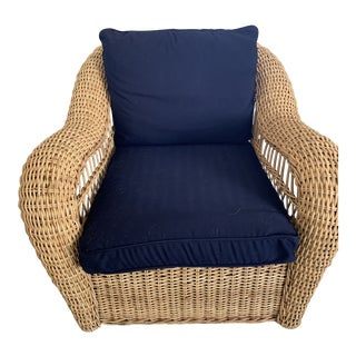 1990s Vintage Rattan Chair For Sale