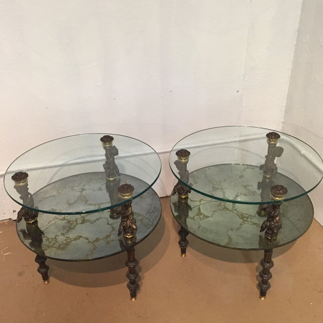 Hollywood Regency Side Tables - A Pair - Image 2 of 7