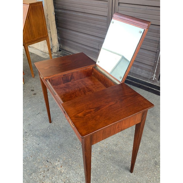 Swedish Mid-Century Modern Vanity by David Rosen for Nk Stockholm, Circa 1950 For Sale In Richmond - Image 6 of 12