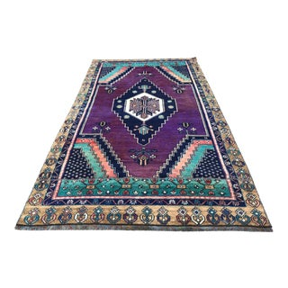 "Turkish Vintage Anatolian Handmade Rug-4'2'x7'4"" For Sale"