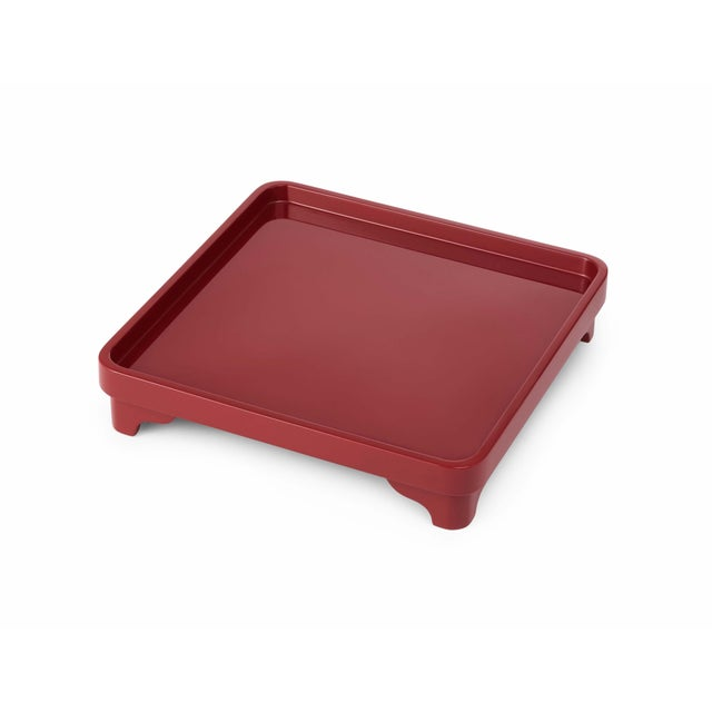 Contemporary Chinese Riser in Garnet Red - Miles Redd for The Lacquer Company For Sale - Image 3 of 3