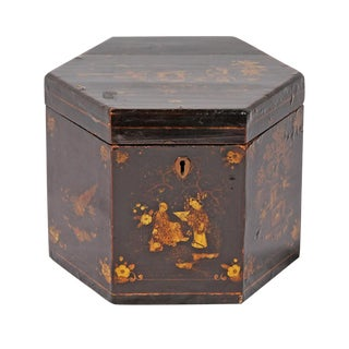 19th Century Chinoiserie Tea Caddy