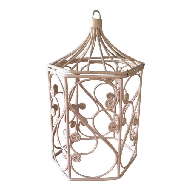 Vintage Rattan Wicker Birdcage - Image 1 of 11