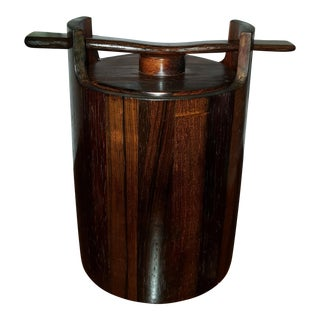 1960's Jean Gillon Brazilian Rosewood Ice Bucket For Sale