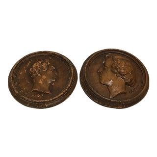 Chopin & Haendel Wall Medallions - A Pair For Sale