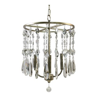 Capital Lighting White Gold Crystal Chandelier For Sale