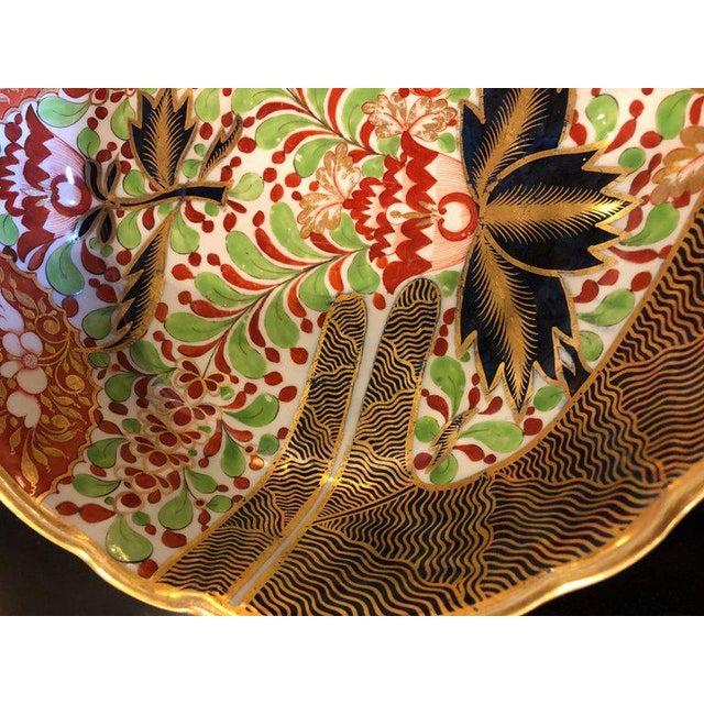 An English Worcester porcelain Imari 19th century Continental circular bowl.