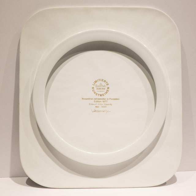Victor Vasarely Op Art Plaque for Rosenthal For Sale In New York - Image 6 of 7
