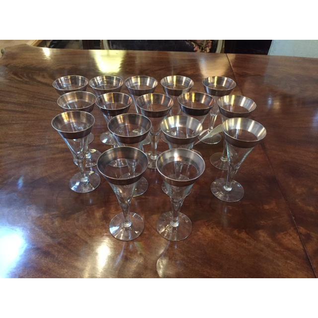 Transparent Vintage Dorothy Thorp Wine Glasses- Set of 16 For Sale - Image 8 of 8