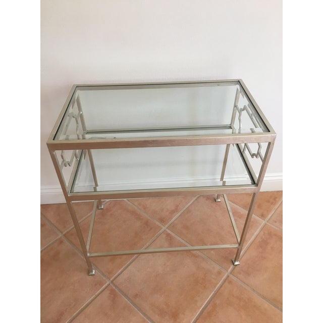 Worlds Away Glass Side Tables - A Pair For Sale In San Francisco - Image 6 of 7