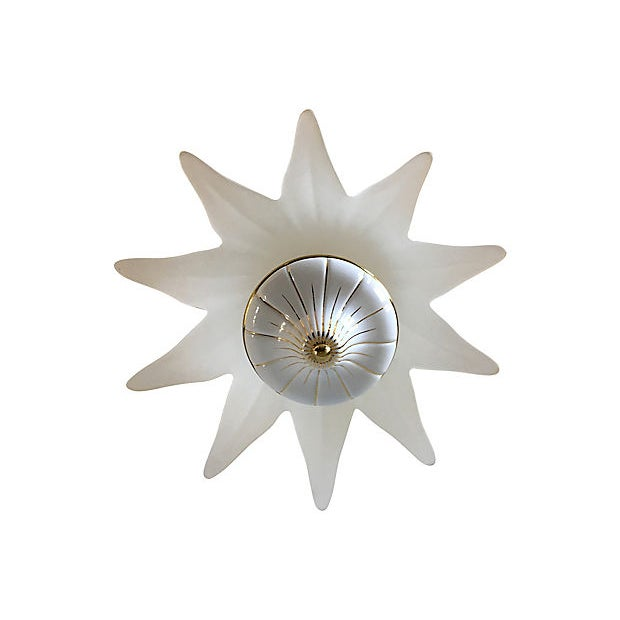 1960s Italian Lotus Chandelier by Fabbian For Sale - Image 5 of 9