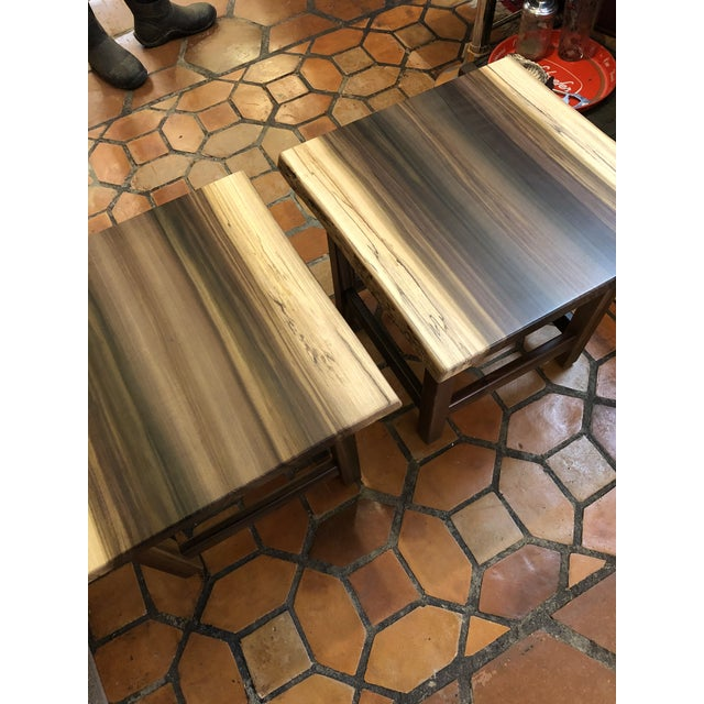 Artisan Made Amish Custom Poplar End Tables -A Pair For Sale - Image 4 of 11