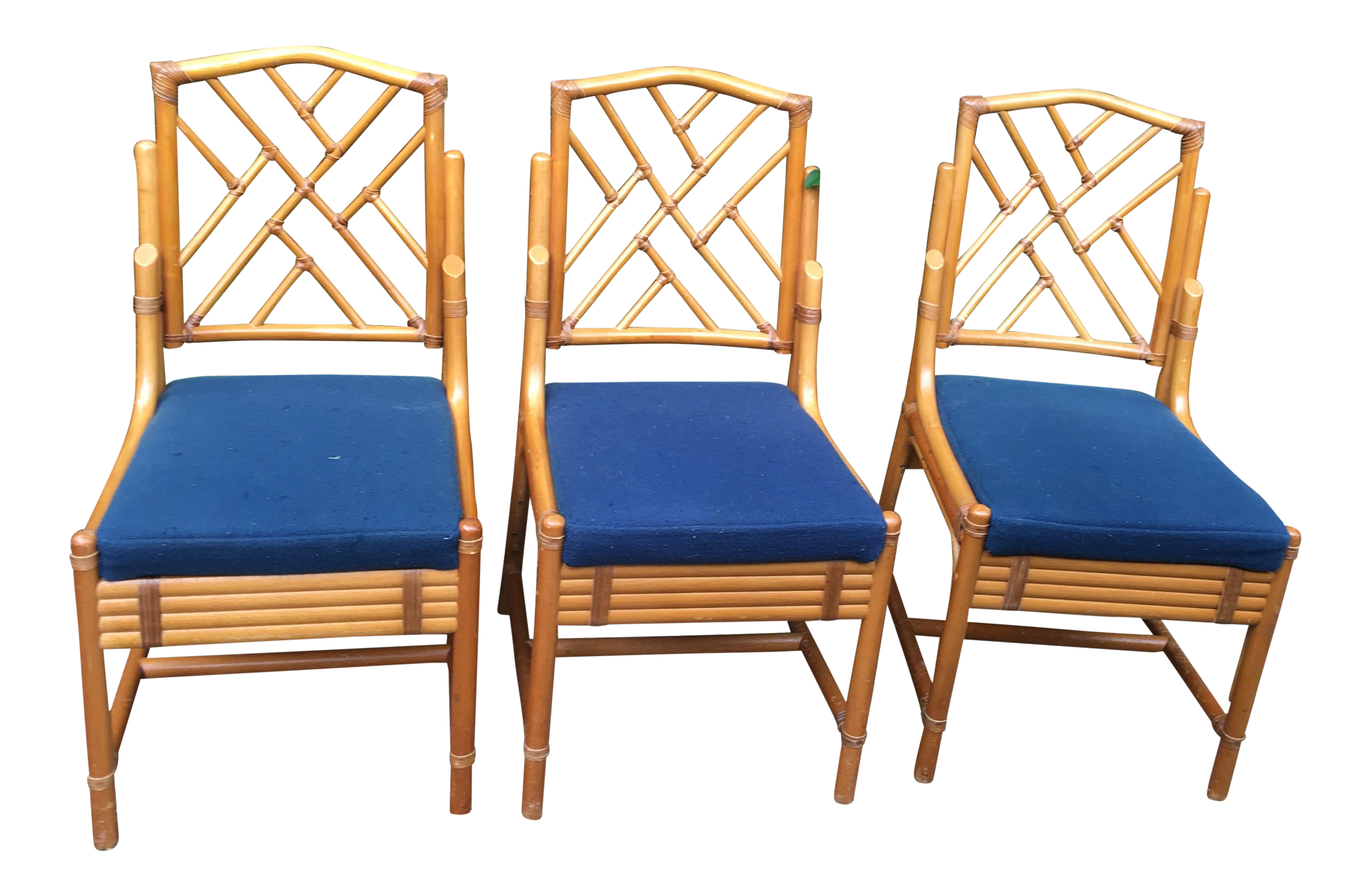 Vintage Used Navy Blue Side Chairs Chairish