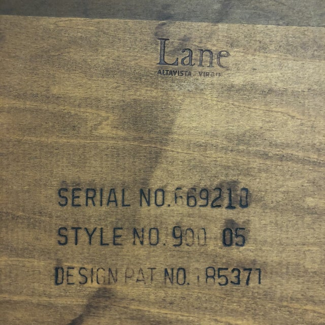 Brown 1950s Mid-Century Modern Lane Furniture Acclaim Dovetail End Tables - a Pair For Sale - Image 8 of 9