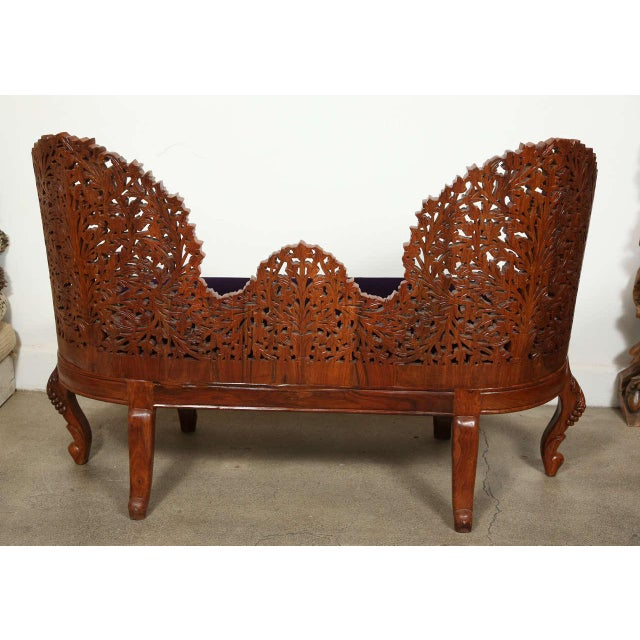 Anglo-Raj Settee and Side Chairs Suite For Sale - Image 4 of 10