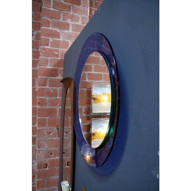 Italian 1960s Cobalt Blue Mirror For Sale - Image 4 of 5