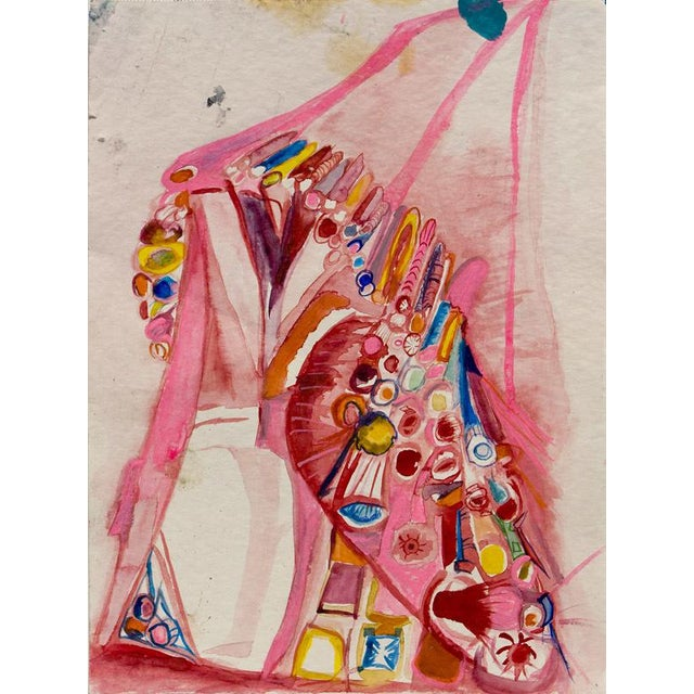 Ali Smith paints vibrant, abstract compositions in oil on canvas whose forms suggest complex organic structures and...