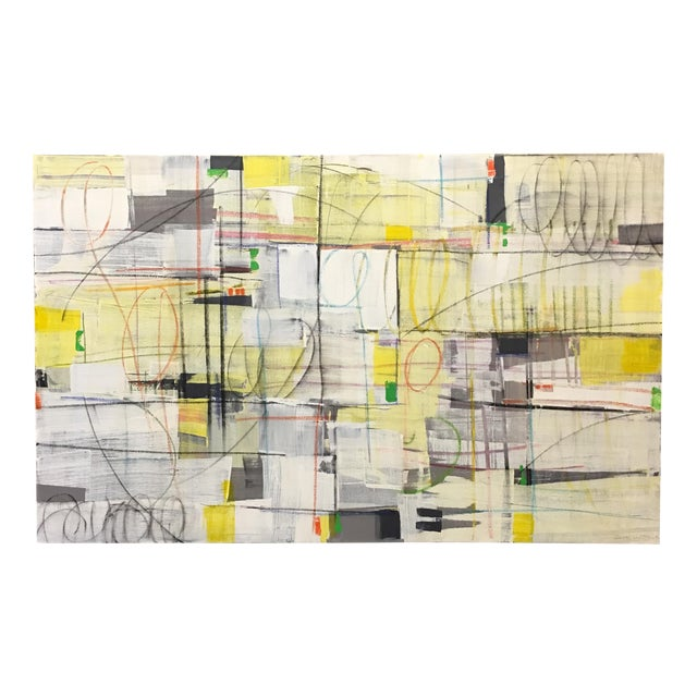 """Isabel Wyatt """"Taxi"""" Original Abstract Painting - Image 1 of 4"""