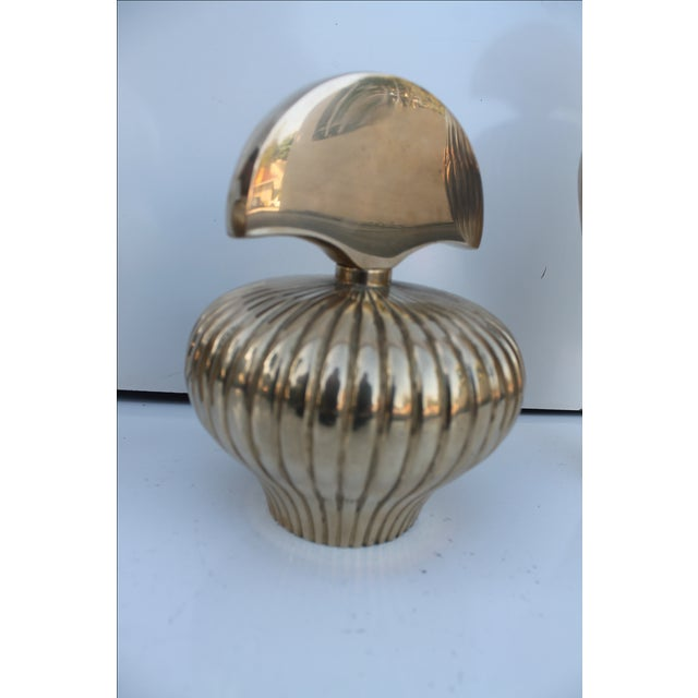 Gabriella Crespi Style Brass Perfume Bottles - S/3 For Sale - Image 7 of 10
