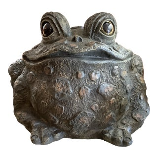 1980s Resin Toad Sculpture For Sale