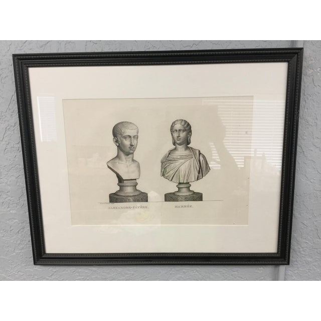 """Early 19th Century """"Alexandre-Severe Mamme."""" Framed Engraving Print For Sale - Image 9 of 9"""