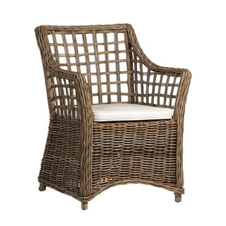 Wicker Lattice Dining Chair For Sale