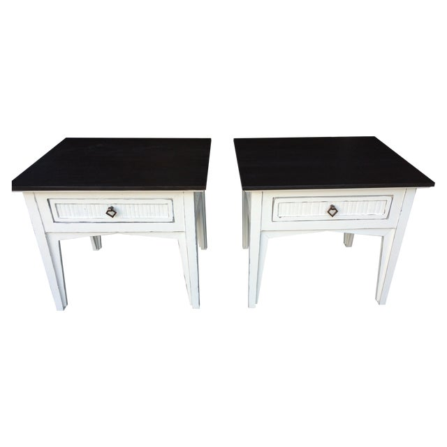 Side Tables with Drawers - Pair - Image 1 of 4
